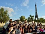 FIPDes students on a bateau mouche tour in Paris