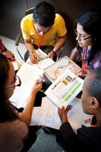 Study group doing homework