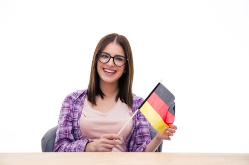 Student with German flag.jpg