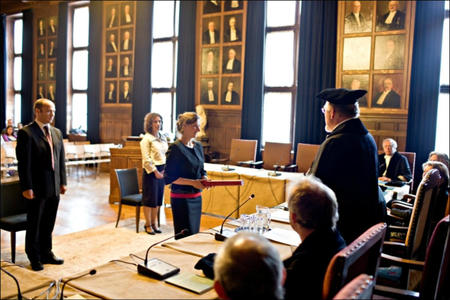 Graduation ceremony in the Netherlands